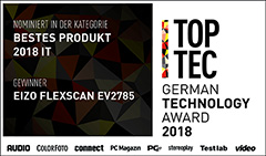 01/2019 | TopTec German Technology Award - Bestes Produkt IT 2018