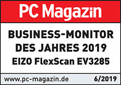 "06/2019 | PC Magazin ""Business-Monitor des Jahres 2019"""