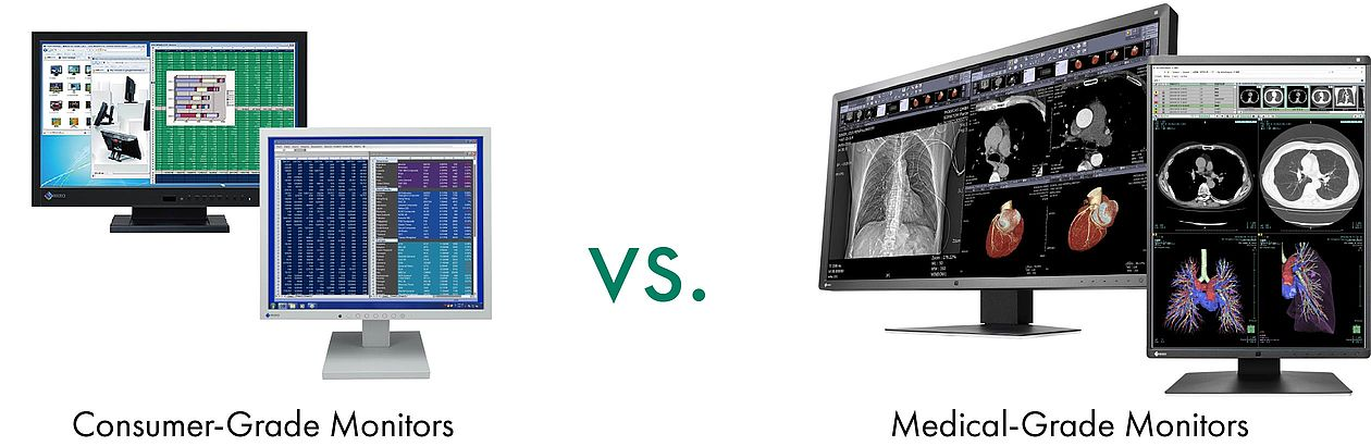 Consumer-grade monitors vs.medical-grade monitors