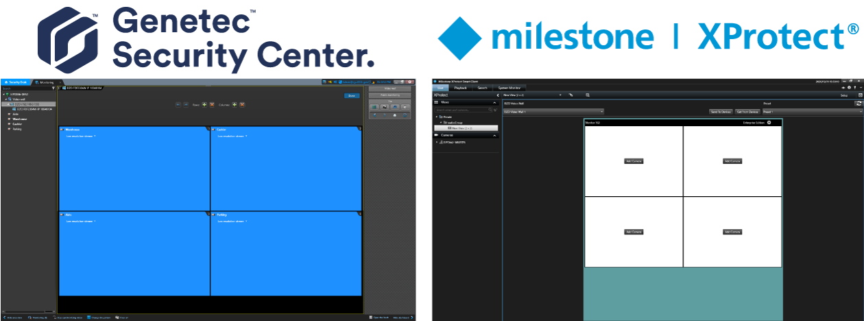 Customized plugins for Genetec and Milestone