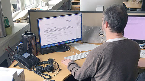 EIZO FlexScan monitors in use at GLS Bank's offices