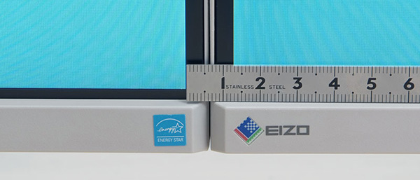 FlexScan EV2455 has a narrow frame design