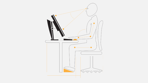 How to set up an ergonomic computer workstation