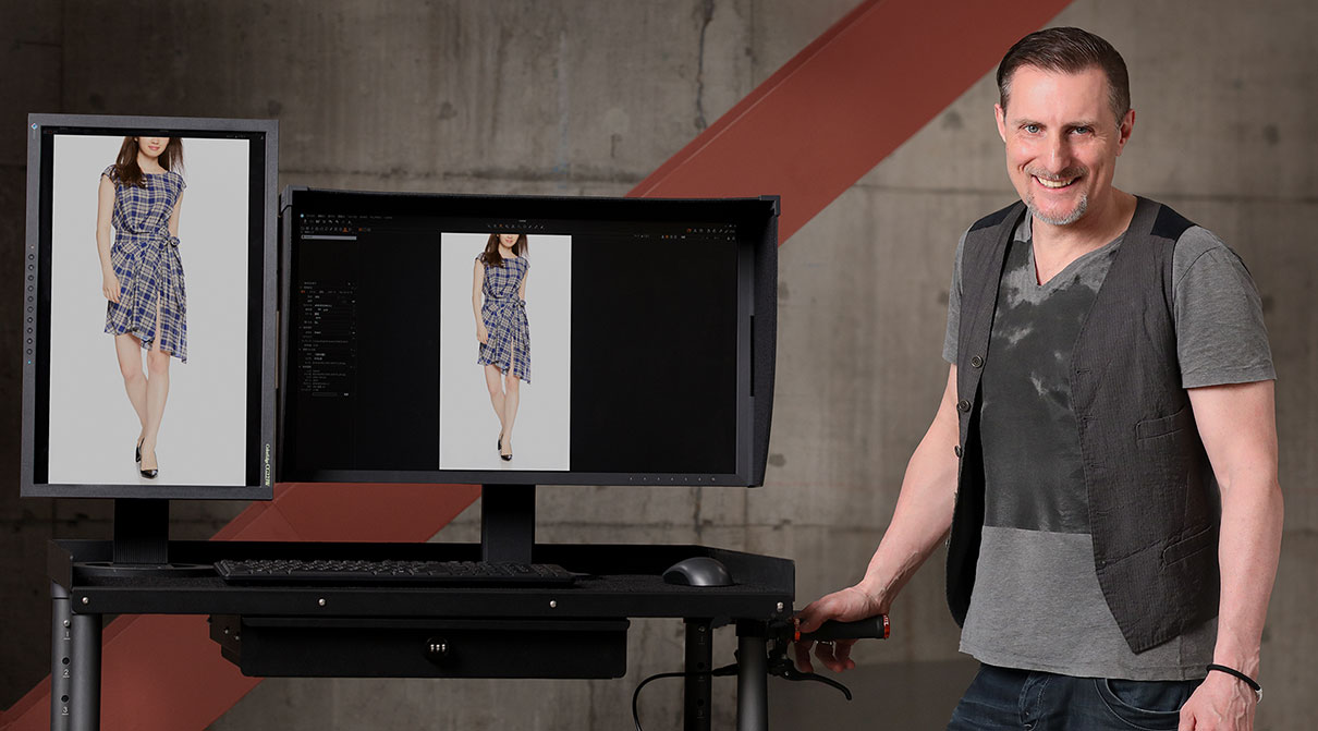 I monitor EIZO utilizzati negli studi di Amazon Fashion