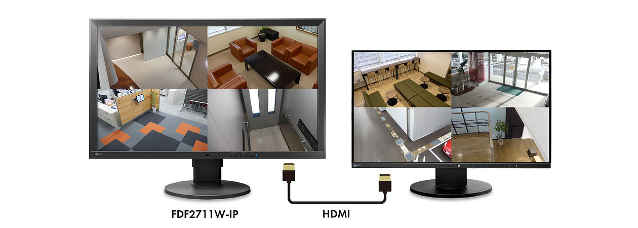 IP Decoding Monitor: Multi-Monitor-Viewing