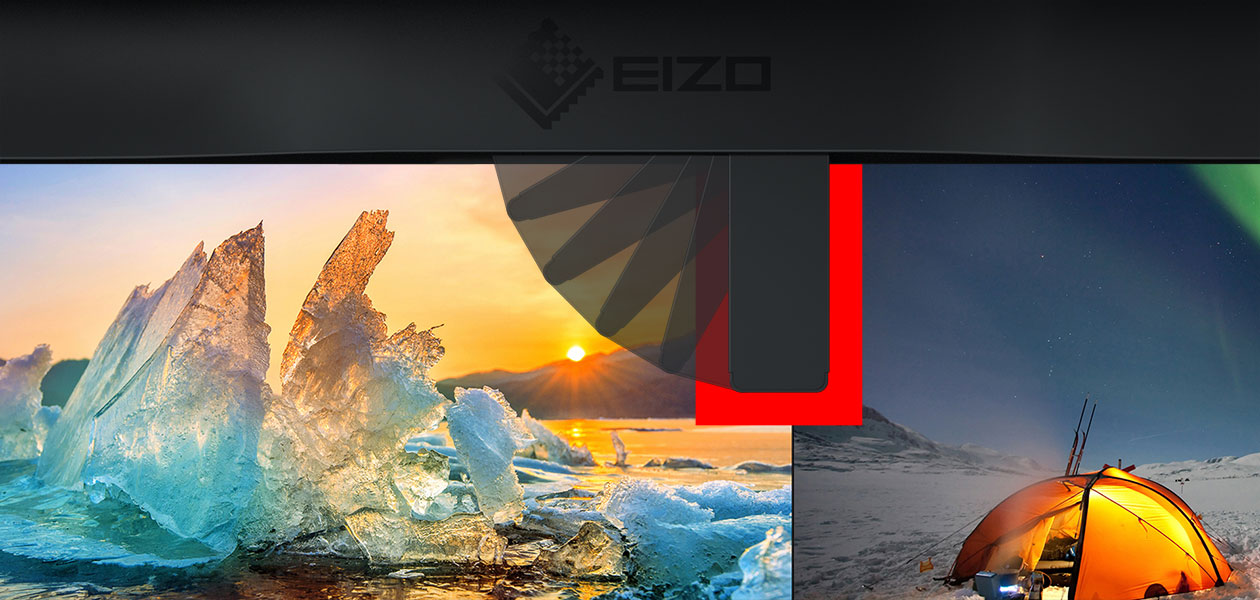 Photograph: EIZO built-in measuring device