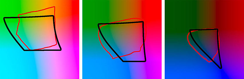 The Adobe RGB gamut compared to the Epson Stylus Pro 9900