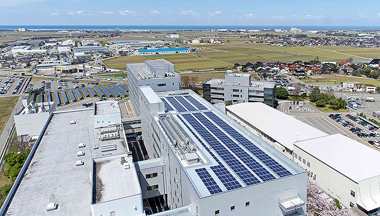 The EIZO Global Headquarters Produce Solar Energy