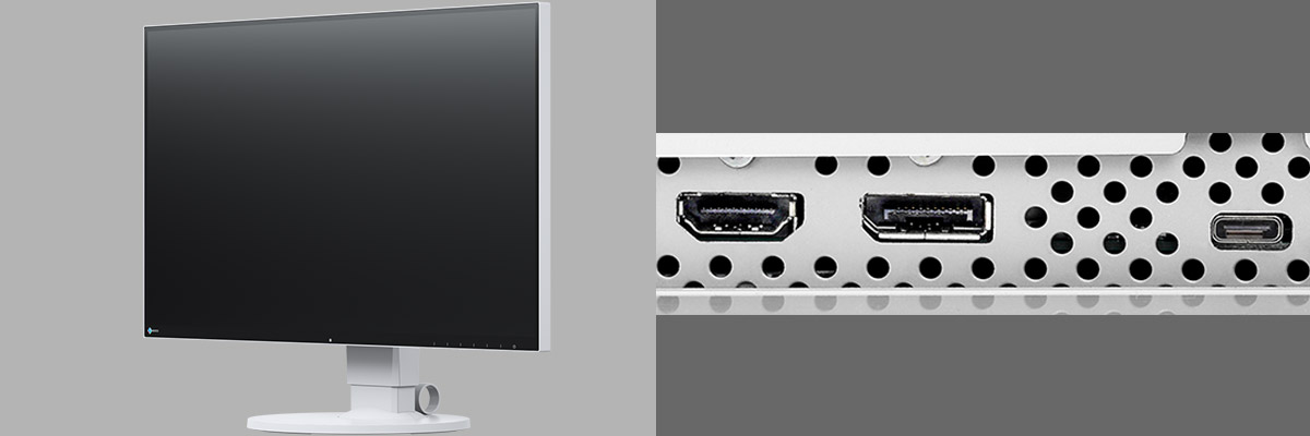 The FlexScan EV2780 has HDMI, DisplayPort, and USB Type-C inputs.