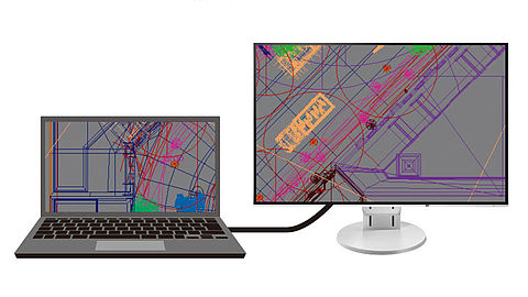 Work more efficiently on a laptop with an external monitor